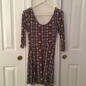 Tribal Print Knit Mini Dress